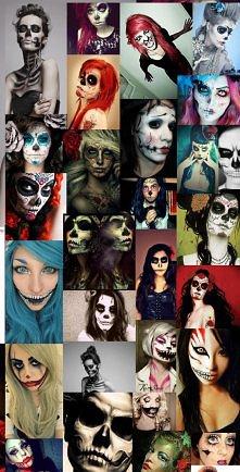 Makijaze na halloween :)