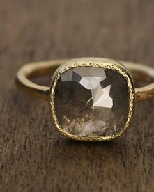 smoky stone ring