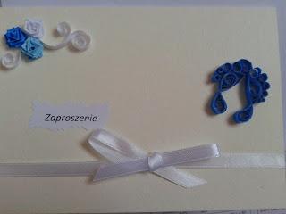 zaproszenie na chrzest :)karteczkowo.blogspot.com