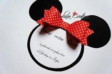 Myszowa kartka urodzinowa lub zaproszenie