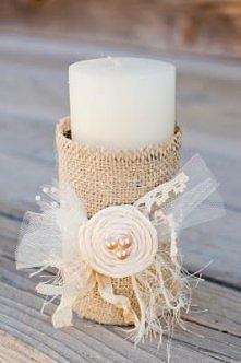 Pięknie ozdobiona świeca, tutorial