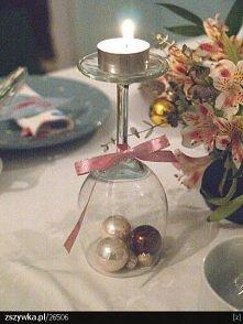 świąteczny świecznik