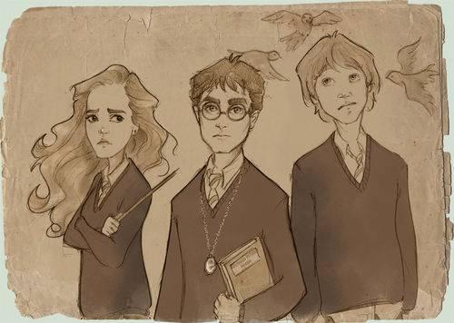 Hermiona, Harry i Ron . malowani ...