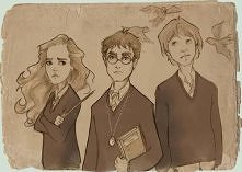 Hermiona, Harry i Ron . mal...
