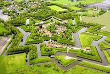 Bourtange Star Fort in Groningen, Holandia
