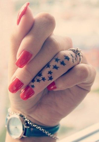 Tatuaż Na Palcach Na Tatuaże Zszywkapl