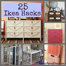 25 sposobów na przerobienie mebli z Ikea :)