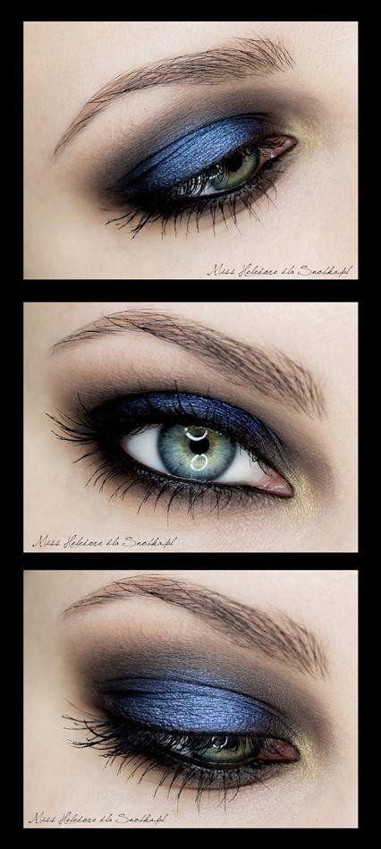 Rozświetlający Niebieski Makijaż Oka Na Uroda Make Up Zszywkapl