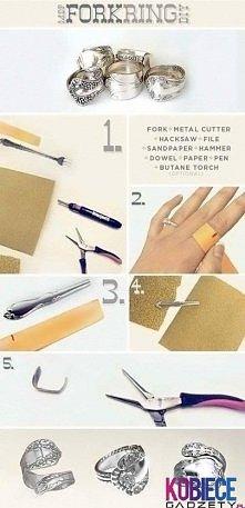 Pierścionek z łyżki DIY