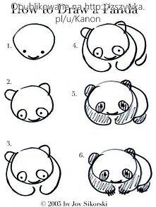Jak łatwo narysować pandę.