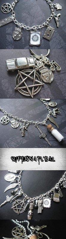 supernatural bransoletka z charmsów