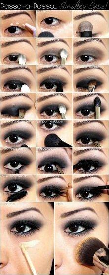 piękne smokey eyes