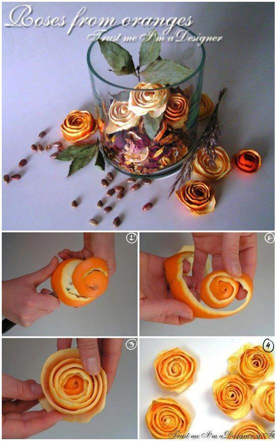 kwiatki ze skórki pomarańczy
