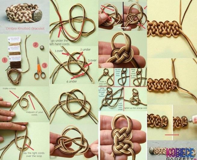 Плетение модных браслетов своими руками 72