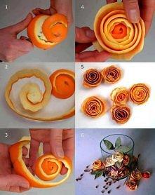 różyczki ze skórki pomarańczy :)