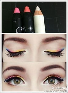 Tęczowy make up
