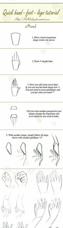 jak narysować ręce i stopy