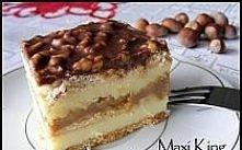 Ciasto Maxi King   Składniki (na blachę 23x37):   ok. 400 g herbatników  1 pu...