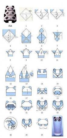 Główka misia pandy - origami