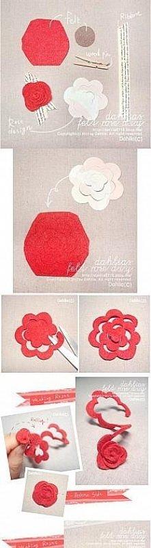 kwiatek z filcu