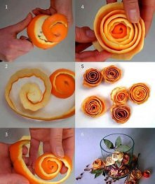 Dekoracje z pomarańczy