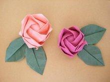róże origami - tutek po kliku