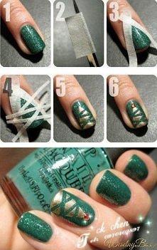 Świąteczne paznokcie :) Trzeba wypróbowac :)