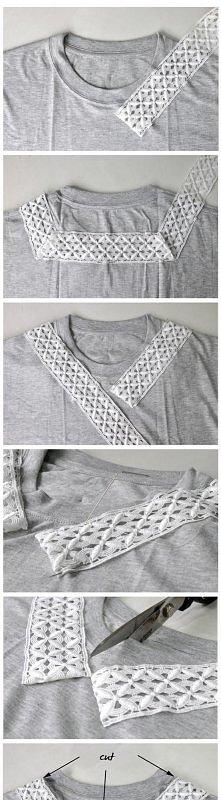 przerabianie t-shirta