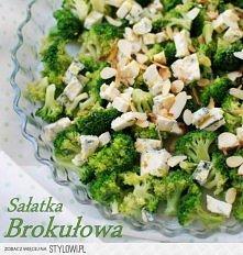SAŁATKA Z BROKUŁAMI Składniki: 1 brokuł 2-4 łyżki pokrojonego w kostkę sera f...