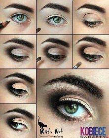 Ciekawy makijaż ;p