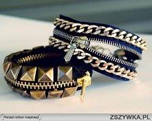 bransoletki z zamków błyskawicznych