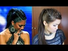 Nicole Scherzinger French Braid Edgy Ponytail Hairstyle for Medium Long Hair Tutorial  Warkocz III