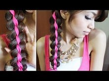 Ribbon Braid Headband Hairstyle Hair Tutorial Warkocz ze wstążką IV