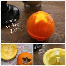 Pomarańczowe świeczki :)