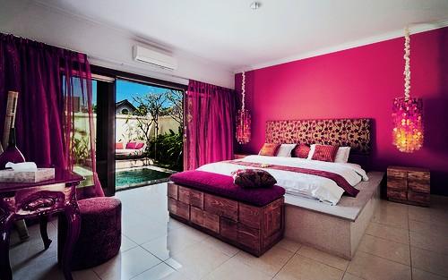 pokój w żywych kolorach
