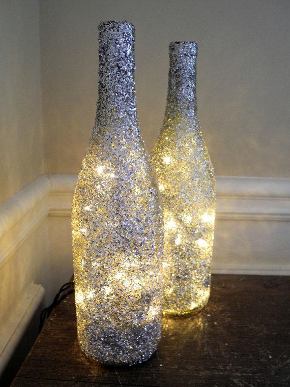 świecące butelki