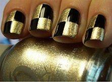 gold-black mani