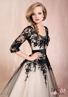 Ball Gown With Sleeves Floor-Length With Black