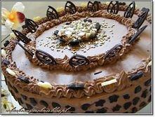 Tort czekoladowy (przepis po kliknięciu w zdjęcie).