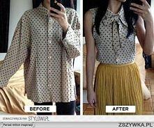 Elegancka bluzka z koszuli