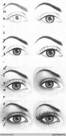 jak narysowac oko.. mały pomocnik..:))