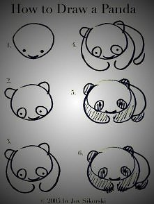 How to draw a panda?