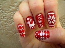 zimowe paznokcie(śliczne)