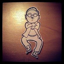 Gangnam style - naklejka  Zapraszam do śledzenia www instagram com/wesol_yo/