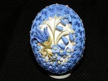 pisanka quillingowa błękitna
