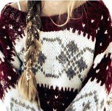 sweterek, warkoczyk, śnieżek ;p