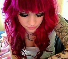 Pink hair Site models !
