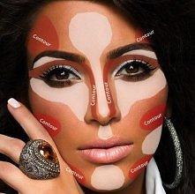 Konturowanie twarzy wg. Kim Kardashian :)