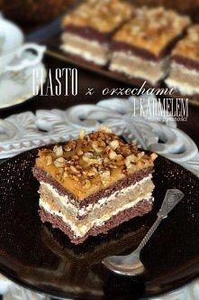 ciasto orzechowe z karmelem