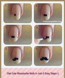 moustache nails :)
